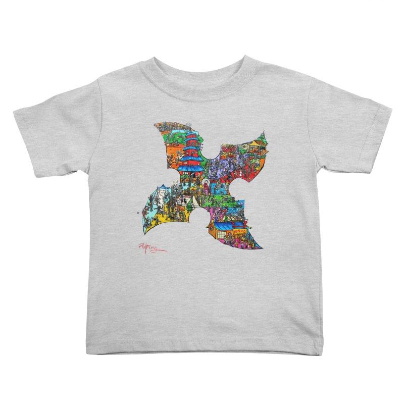 Ninja Pop Kids Toddler T-Shirt by Phil Fung T-shirt Shop