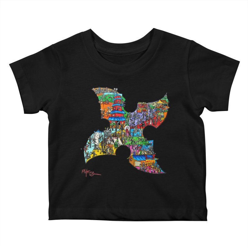 Ninja Pop Kids Baby T-Shirt by Phil Fung T-shirt Shop
