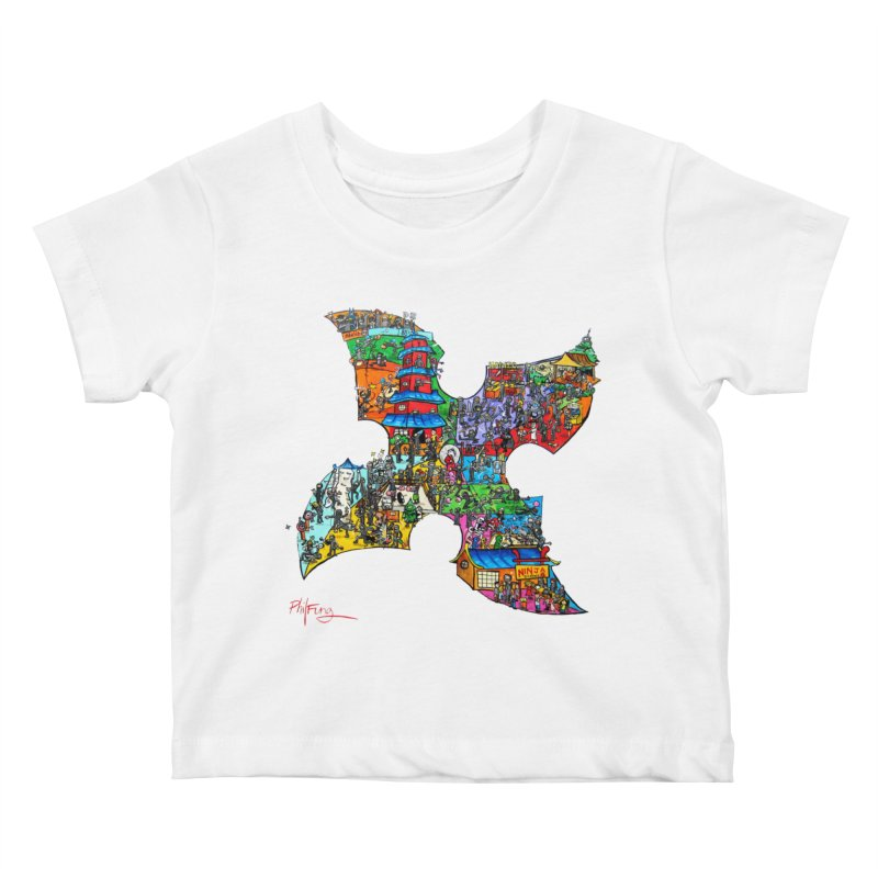 Ninja Pop Kids Baby T-Shirt by Phil Fung T-shirt Shop