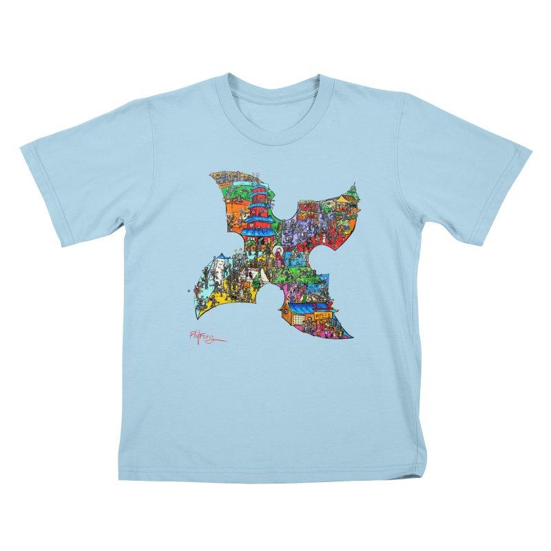 Ninja Pop Kids T-Shirt by Phil Fung T-shirt Shop