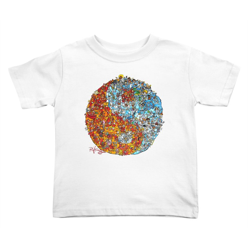 Yin Yang Kids Toddler T-Shirt by Phil Fung T-shirt Shop