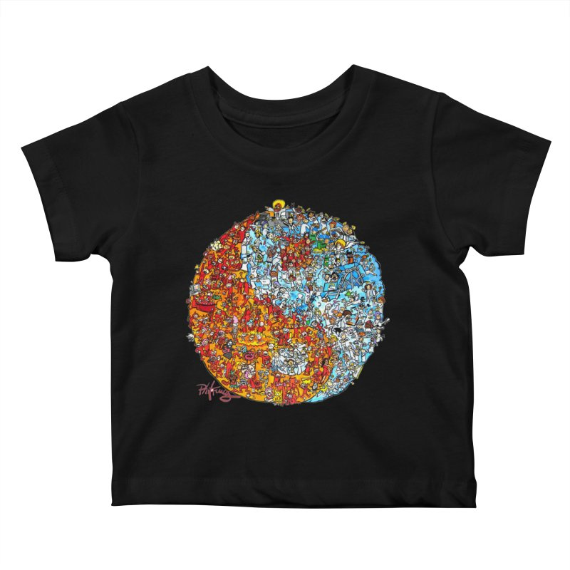 Yin Yang Kids Baby T-Shirt by Phil Fung T-shirt Shop