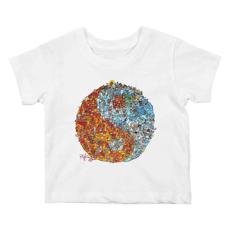 Yin Yang Kids Baby T-Shirt by Phil Fung T-shirt Shop