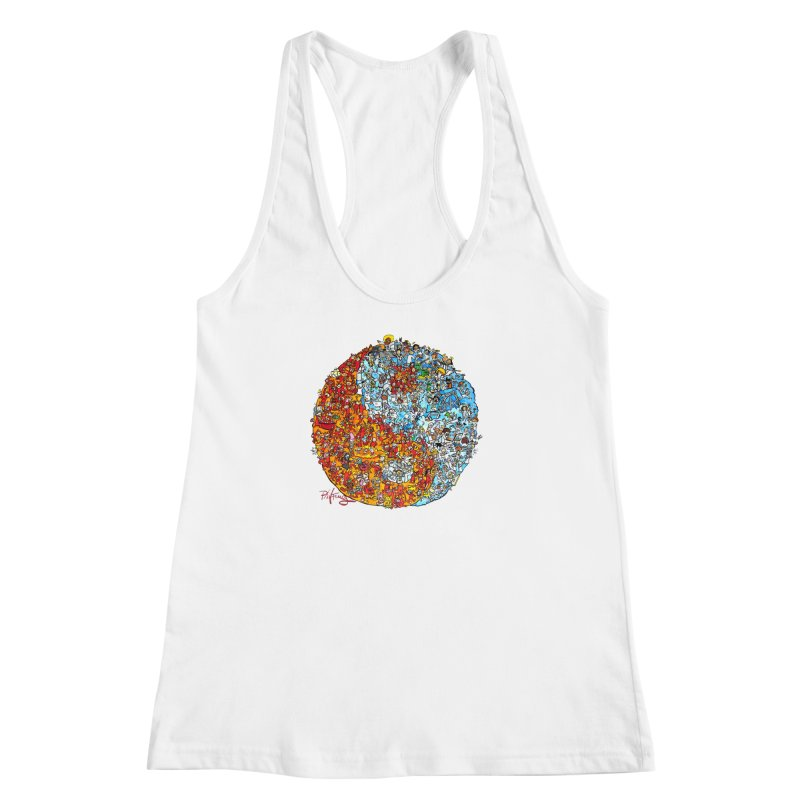 Yin Yang Women's Racerback Tank by Phil Fung T-shirt Shop