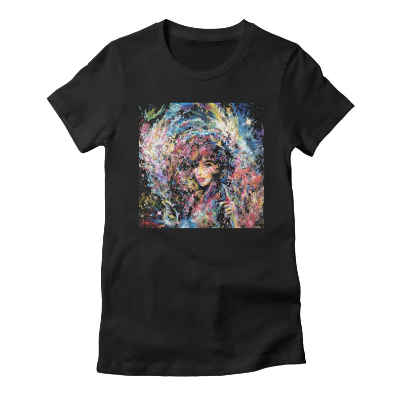 Supernova Stardust Women's Fitted T-Shirt by Phil Fung T-shirt Shop