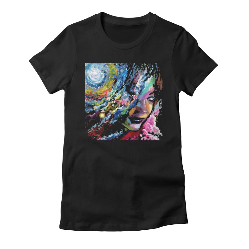 Sunkist Skin Women's Fitted T-Shirt by Phil Fung T-shirt Shop