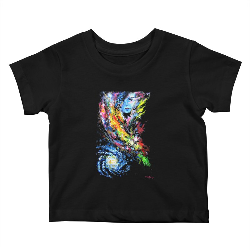 Lady Nebula Kids Baby T-Shirt by Phil Fung T-shirt Shop