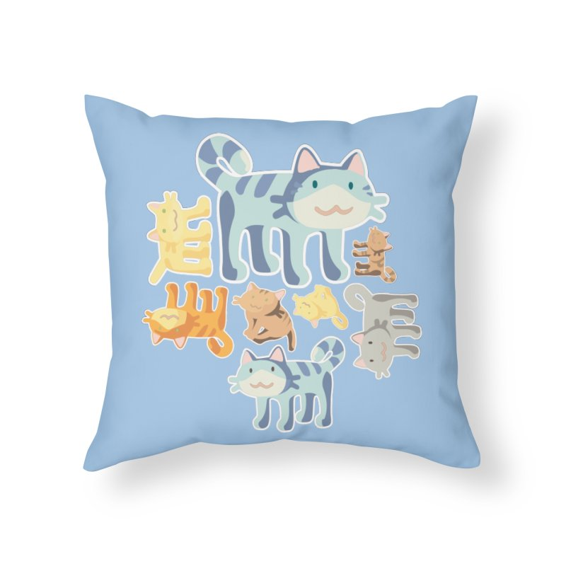 pastel_cats Home Throw Pillow by graphi