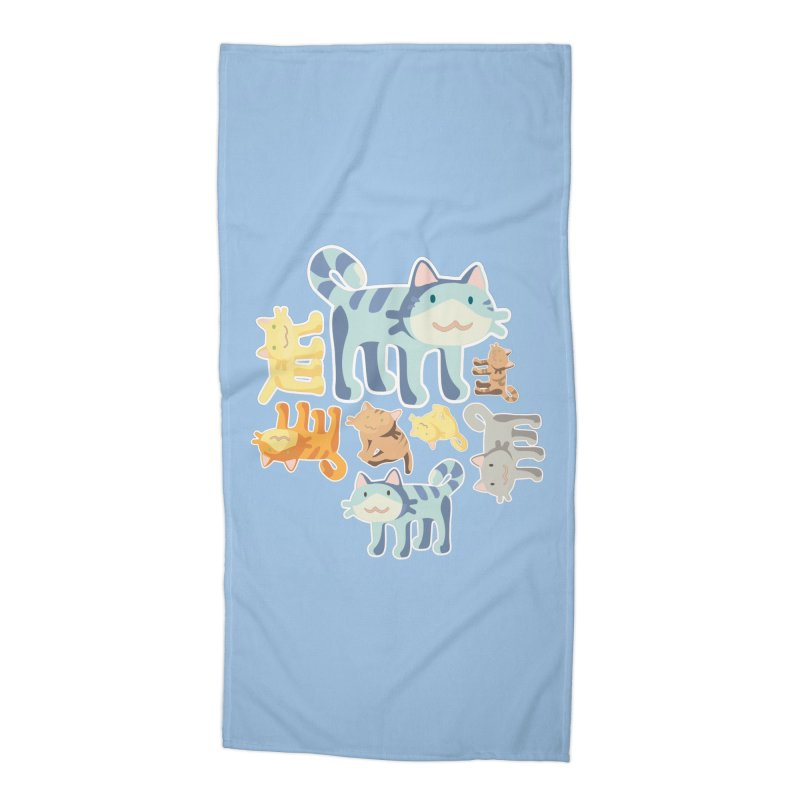 pastel_cats Accessories Beach Towel by graphi