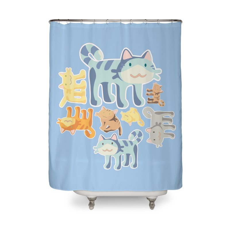 pastel_cats Home Shower Curtain by graphi