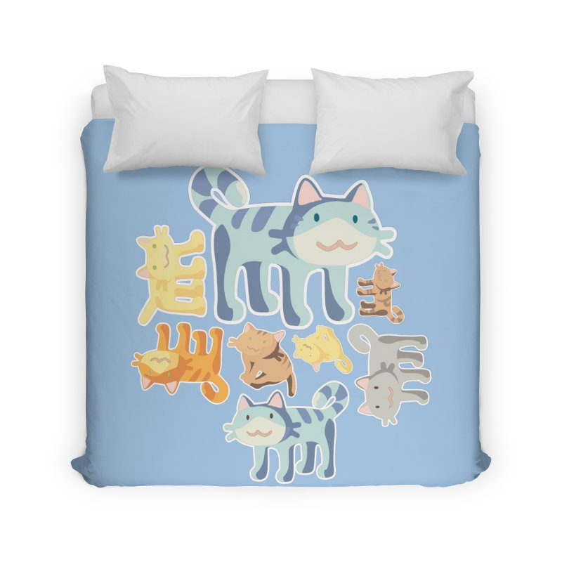 pastel_cats Home Duvet by graphi