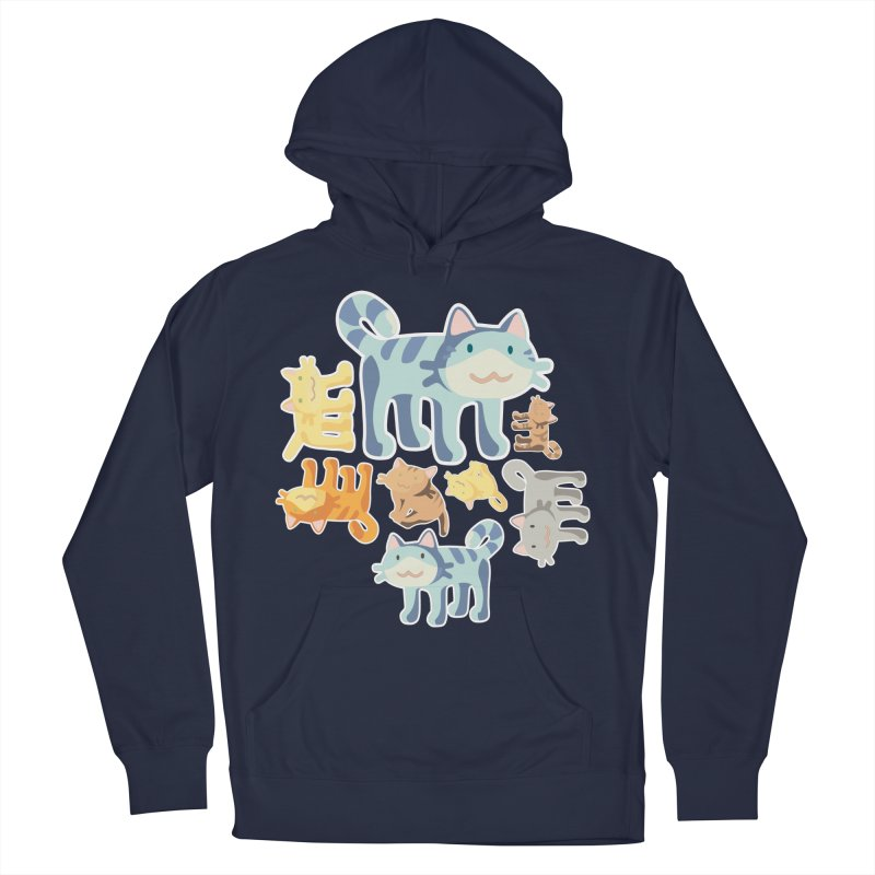pastel_cats Men's French Terry Pullover Hoody by graphi