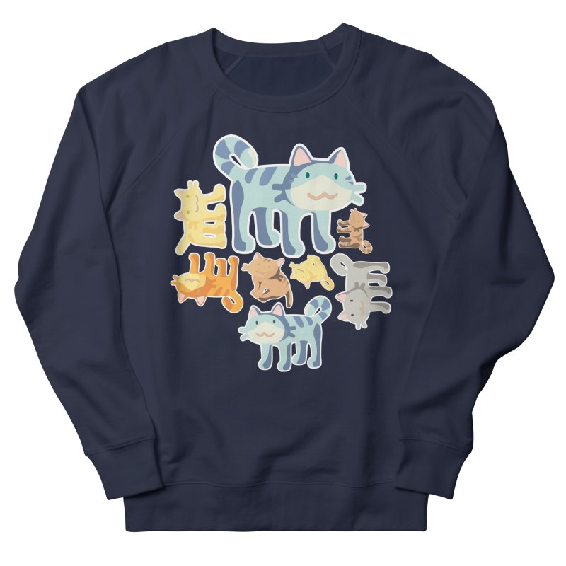 pastel_cats Women's French Terry Sweatshirt by graphi
