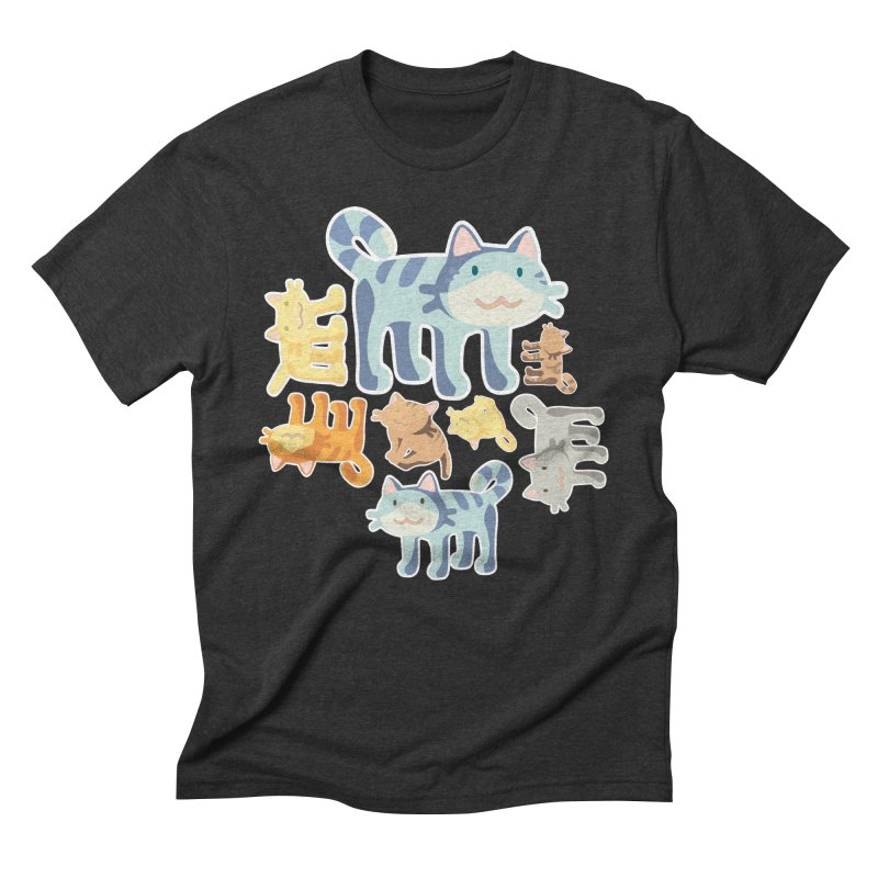 pastel_cats Men's Triblend T-Shirt by graphi