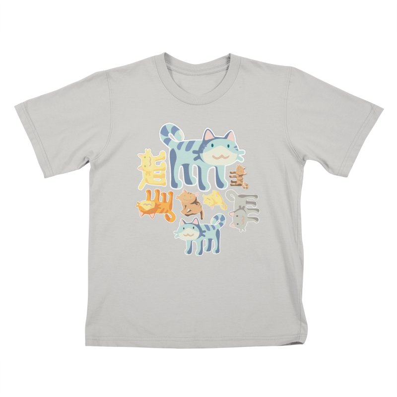 pastel_cats Kids T-shirt by graphi