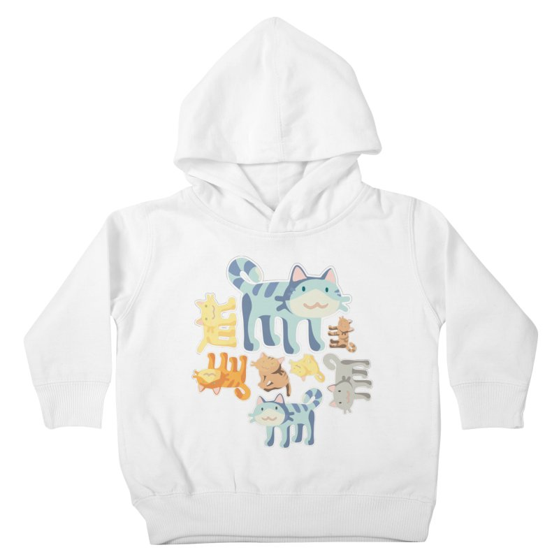 pastel_cats Kids Toddler Pullover Hoody by graphi