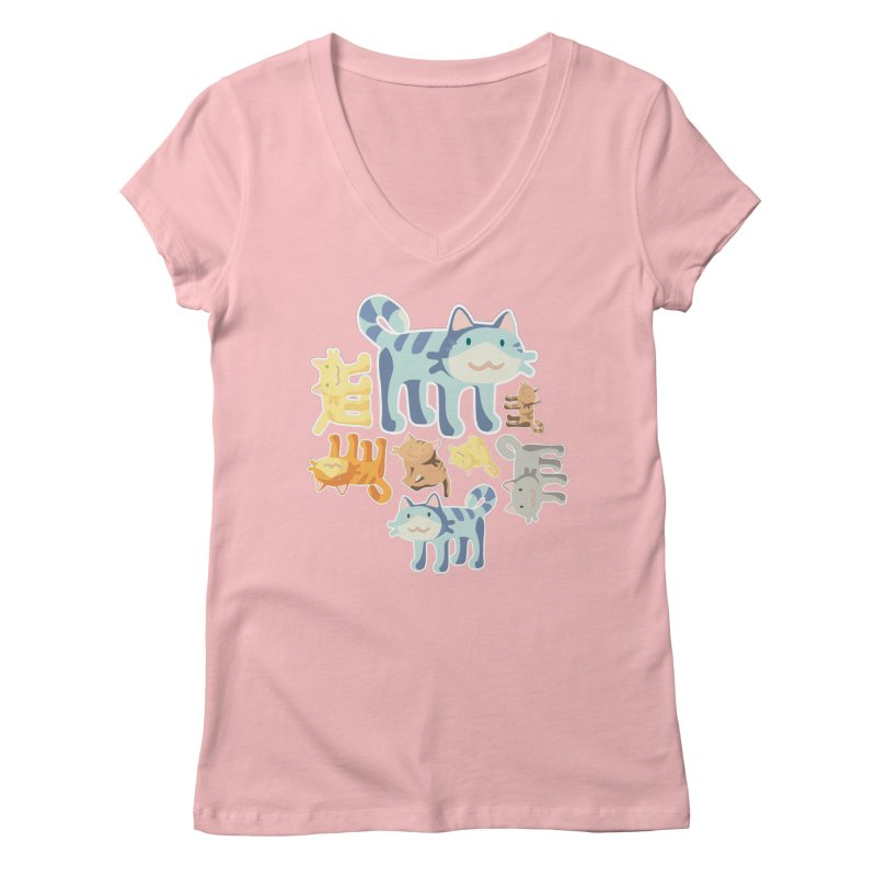 pastel_cats Women's V-Neck by graphi
