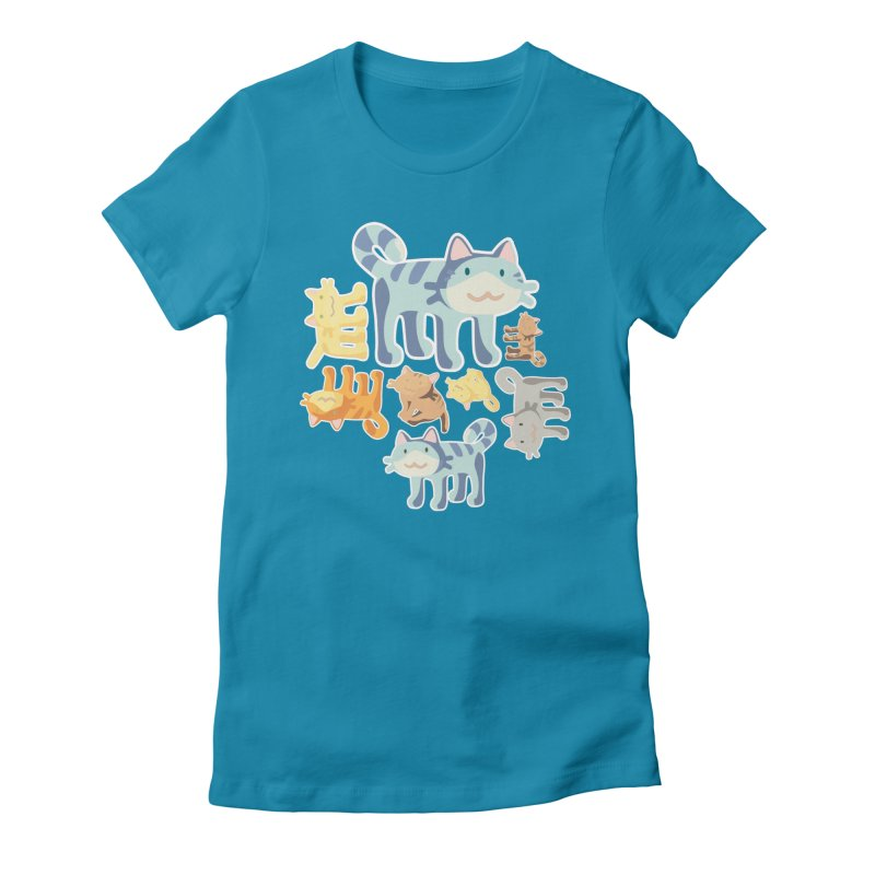 pastel_cats Women's Fitted T-Shirt by graphi