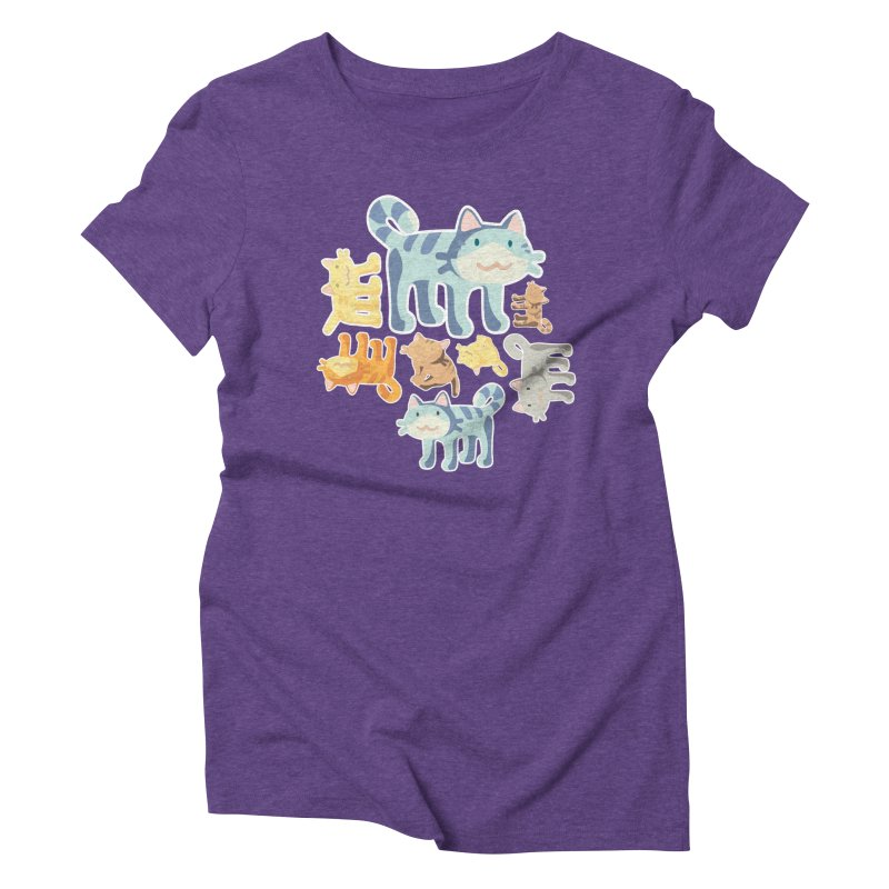 pastel_cats Women's Triblend T-Shirt by graphi
