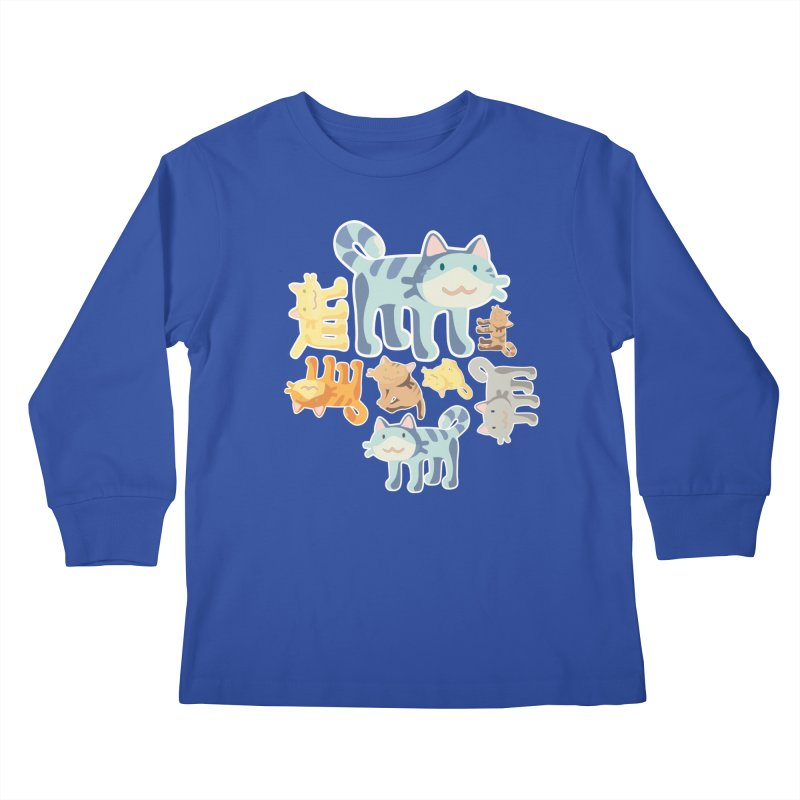 pastel_cats Kids Longsleeve T-Shirt by graphi