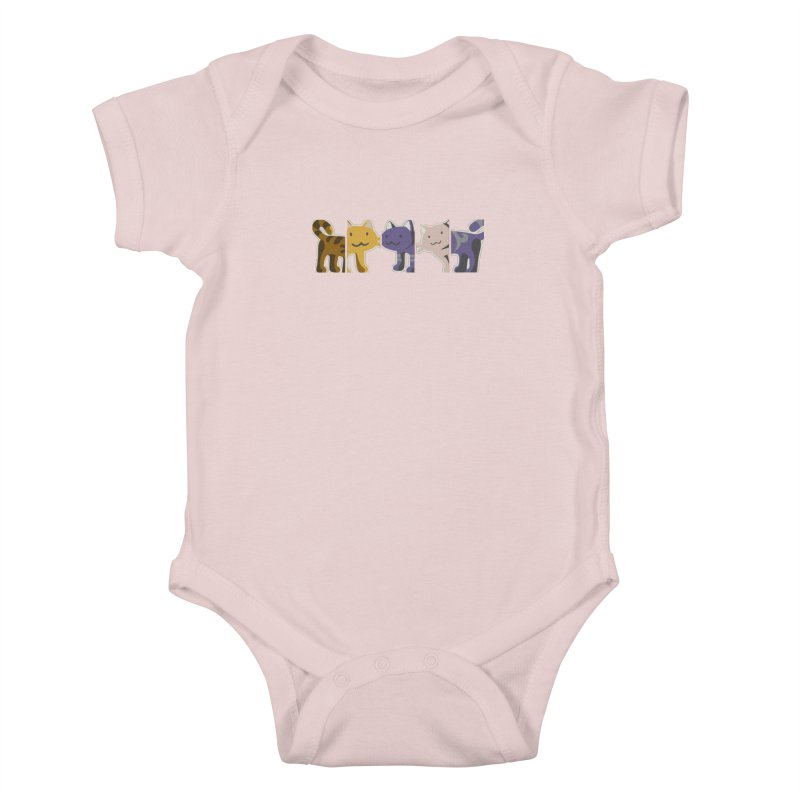 love_cats Kids Baby Bodysuit by graphi