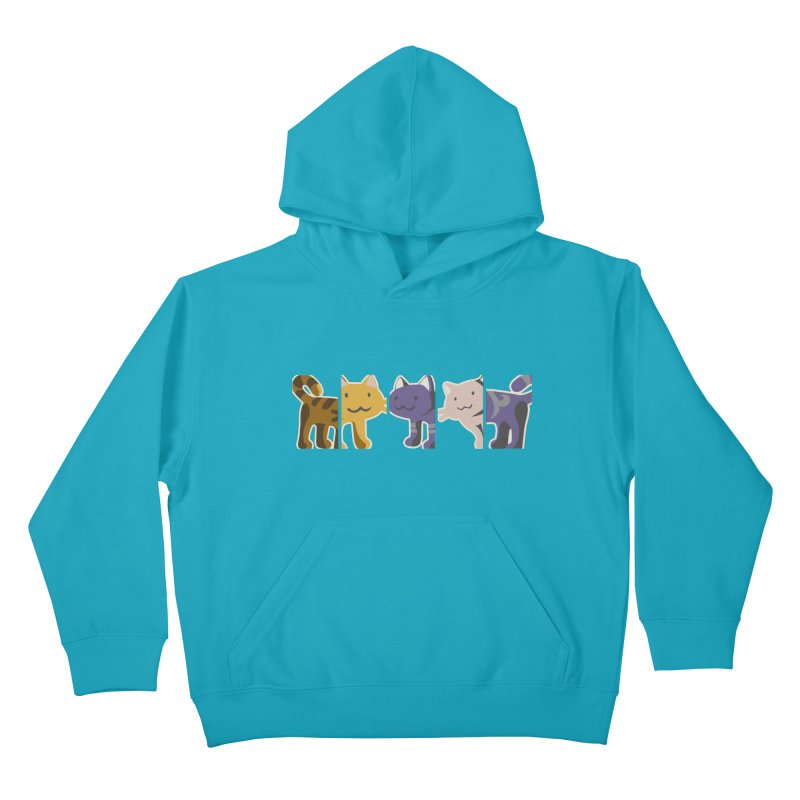 love_cats Kids Pullover Hoody by graphi