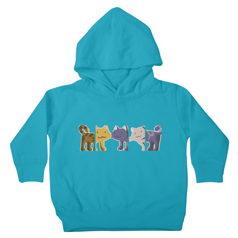 love_cats Kids Toddler Pullover Hoody by graphi