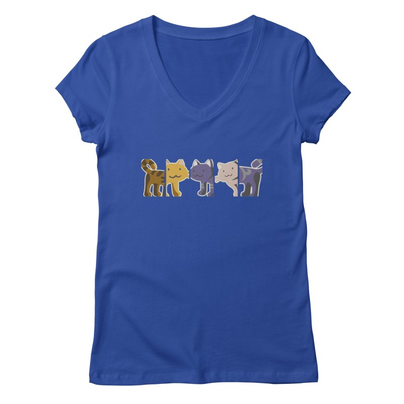 love_cats Women's V-Neck by graphi