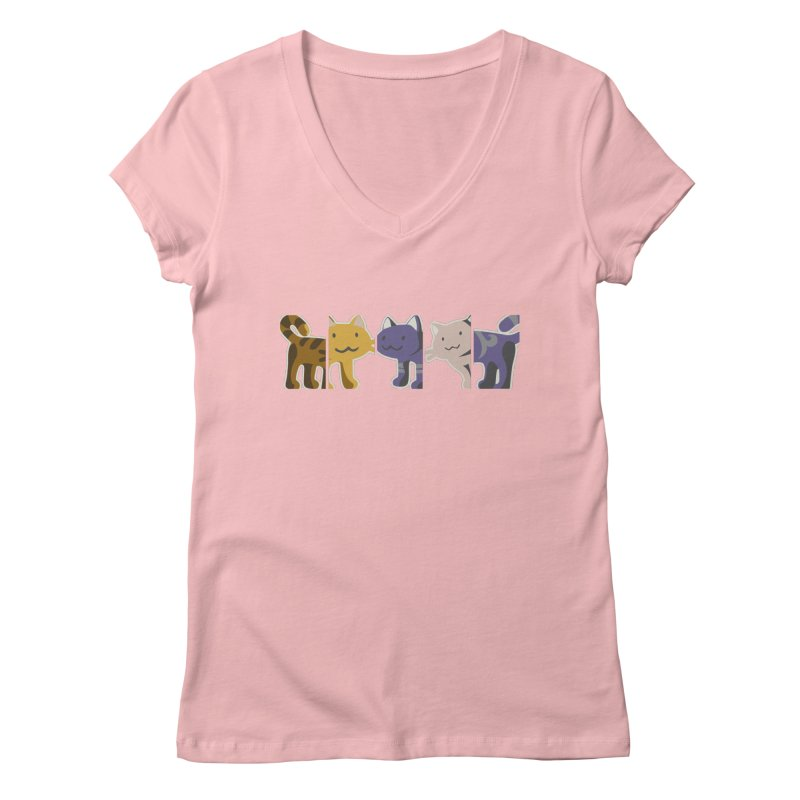 love_cats Women's Regular V-Neck by graphi