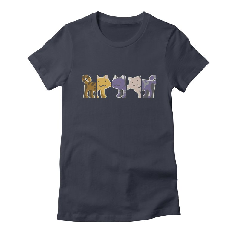 love_cats Women's Fitted T-Shirt by graphi