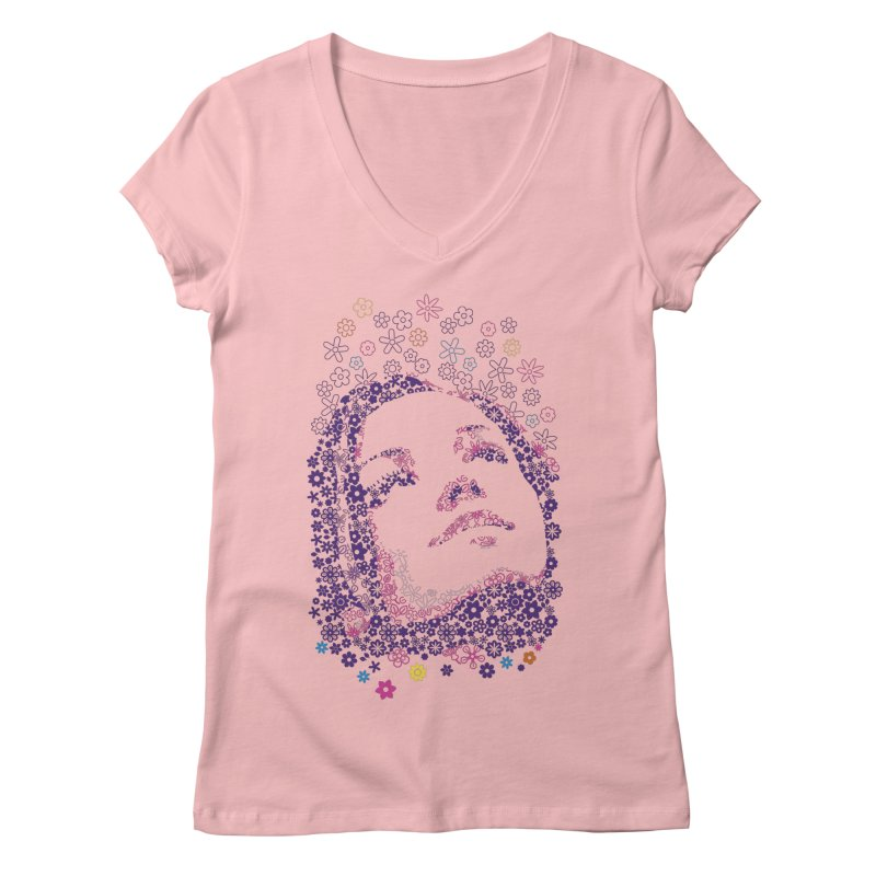 flower_girl Women's Regular V-Neck by graphi