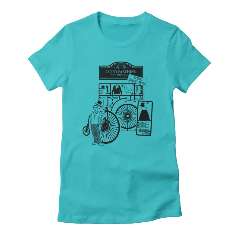 penny_farthing Women's Fitted T-Shirt by graphi