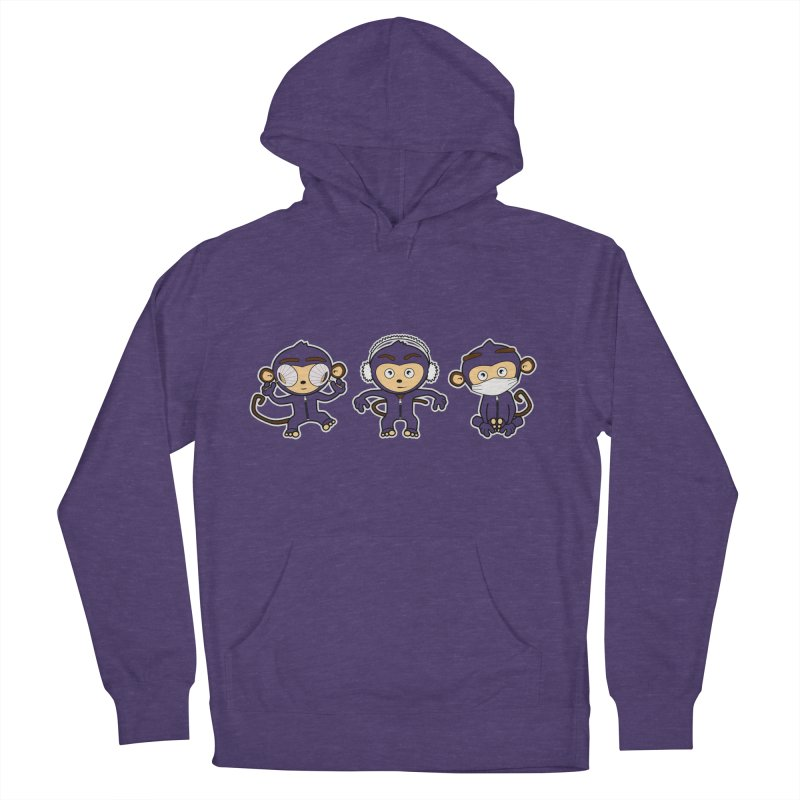 three_wise_monkeys Women's French Terry Pullover Hoody by graphi