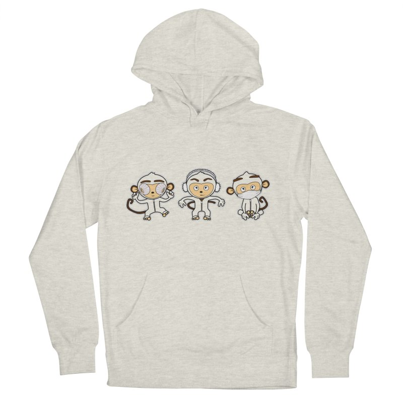 three_wise_monkeys Men's Pullover Hoody by graphi