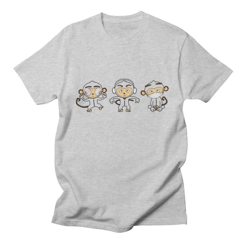 three_wise_monkeys Men's Regular T-Shirt by graphi