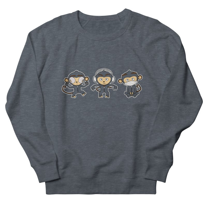 three_wise_monkeys Men's French Terry Sweatshirt by graphi