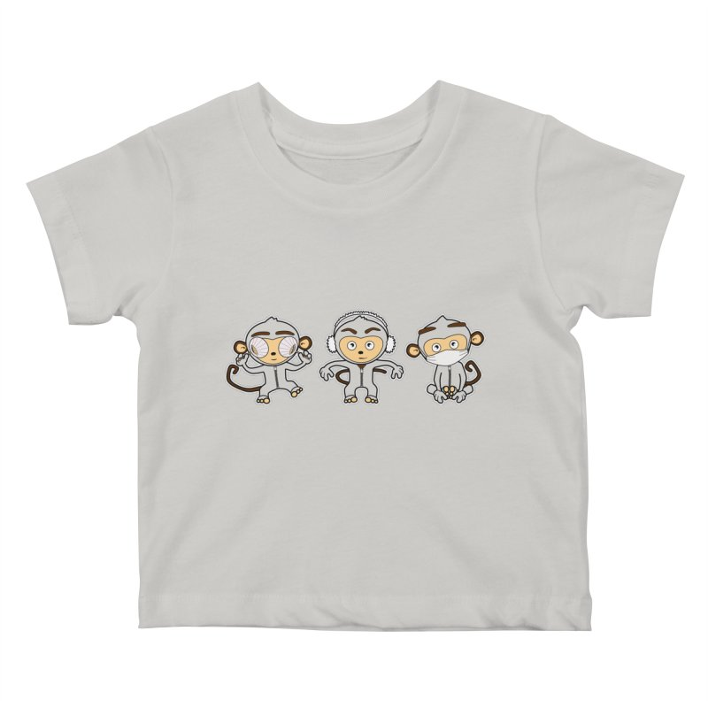 three_wise_monkeys Kids Baby T-Shirt by graphi