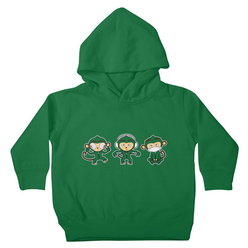 three_wise_monkeys Kids Toddler Pullover Hoody by graphi