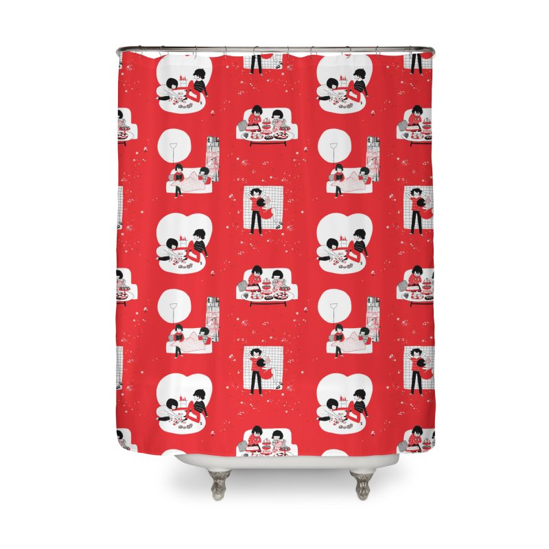 SOPPY repeating pattern  Home Shower Curtain by Philippa Rice's Shop