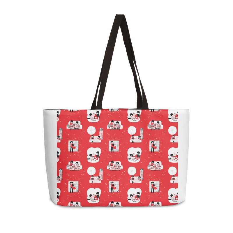 SOPPY repeating pattern  Accessories Bag by Philippa Rice's Shop