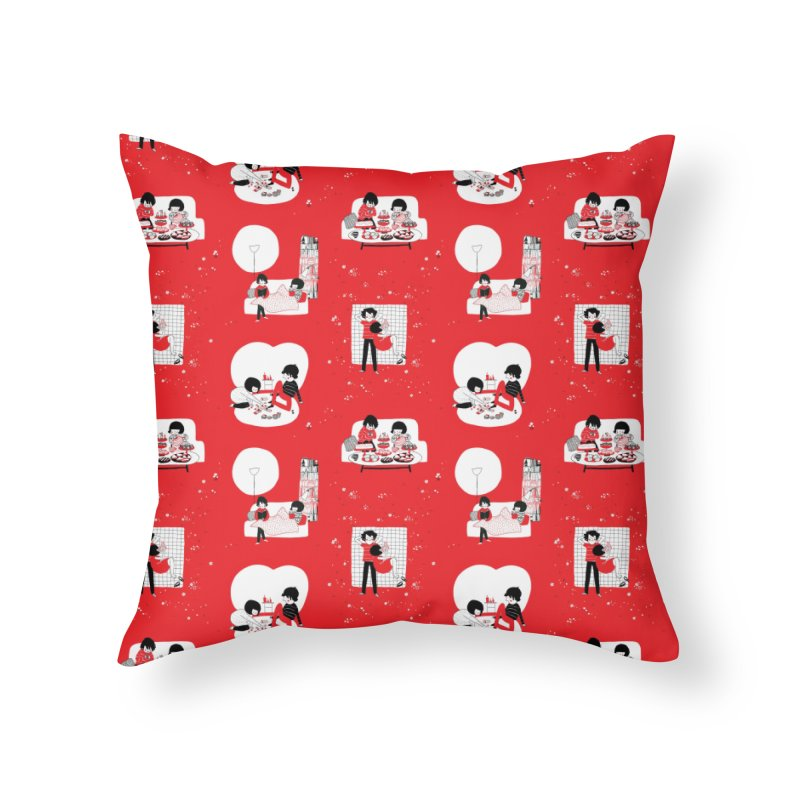 SOPPY repeating pattern  Home Throw Pillow by Philippa Rice's Shop