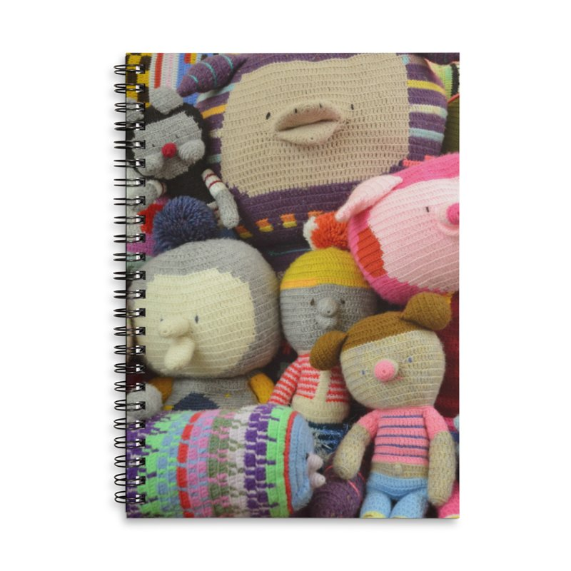 Crochet Characters Accessories Lined Spiral Notebook by Philippa Rice's Shop