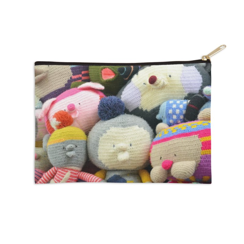 Crochet Characters Accessories Zip Pouch by Philippa Rice's Shop