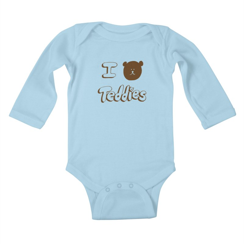 I TED TEDDIES Kids Baby Longsleeve Bodysuit by Philippa Rice's Shop