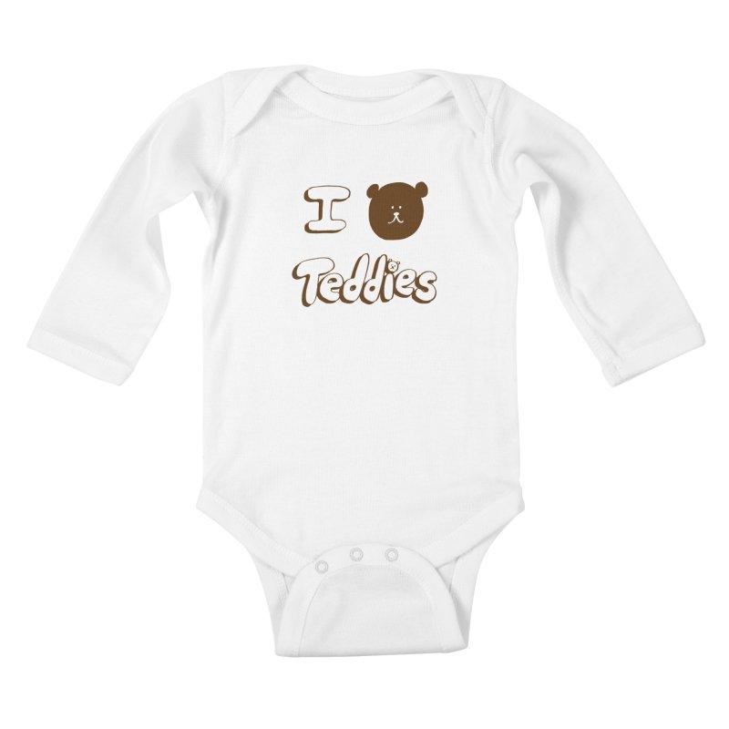 I TED TEDDIES Kids Baby Longsleeve Bodysuit by Philippa Rice's Shop