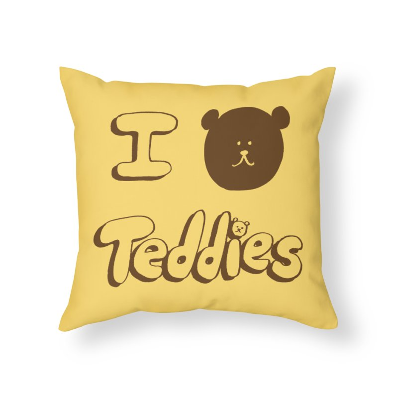 I TED TEDDIES Home Throw Pillow by Philippa Rice's Shop