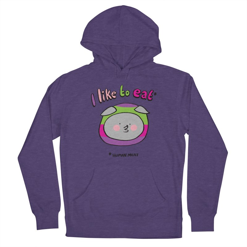 I Like To Eat  Men's French Terry Pullover Hoody by Philippa Rice's Shop