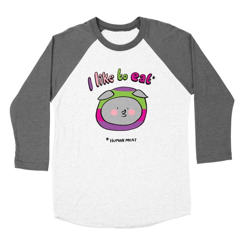 I Like To Eat  Women's Longsleeve T-Shirt by Philippa Rice's Shop