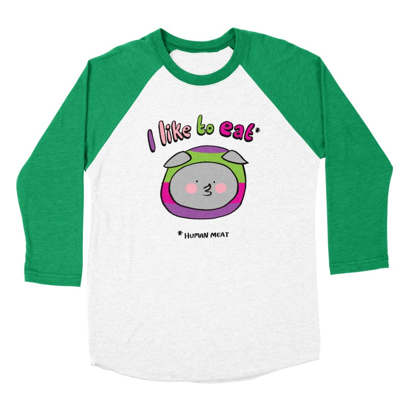 I Like To Eat  Men's Longsleeve T-Shirt by Philippa Rice's Shop