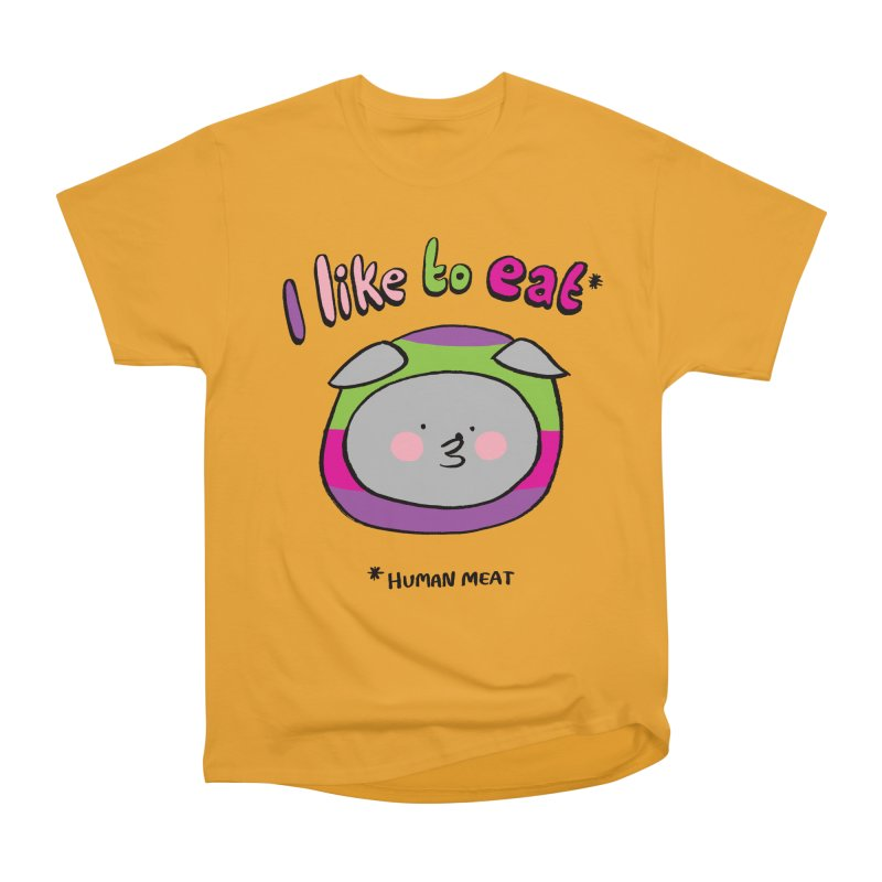I Like To Eat  Women's Classic Unisex T-Shirt by Philippa Rice's Shop